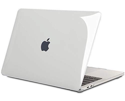 TECOOL Custodia MacBook PRO 13 2016/2017/ 2018/2019, Plastica Cover Trasparente Rigida per Apple MacBook PRO 13.3 Pollici con/Senza Touch Bar (Modello: A1706/ A1708/ A1989/ A2159) -Cristallo Chiara