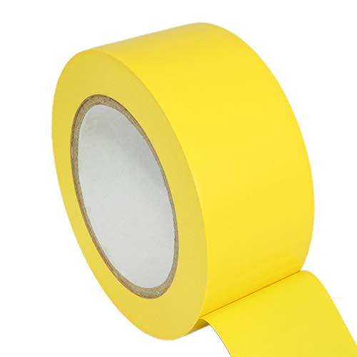Bodenmarkierungsband | 50 mm x 33 m | Einseitig klebend | Verschiedene Farben | Ablösbar auf den meisten Untergründen | Warnklebeband zum Kennzeichnen von Arealen oder zum Erstellen von Bahnen/gelb
