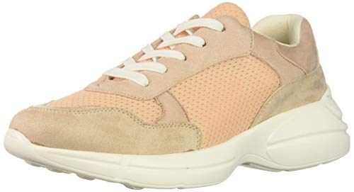 Madden Girl Women's Burrel Sneaker, Blush Fabric, 8 M US