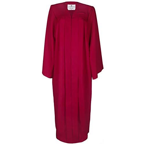 Lierys Toga Hombre/Mujer Negro, Azul, Rojo - Toga en Las Tallas S-XL - con Cierre a presión - Túnica para la graduación Escolar o universitaria Burdeos XL