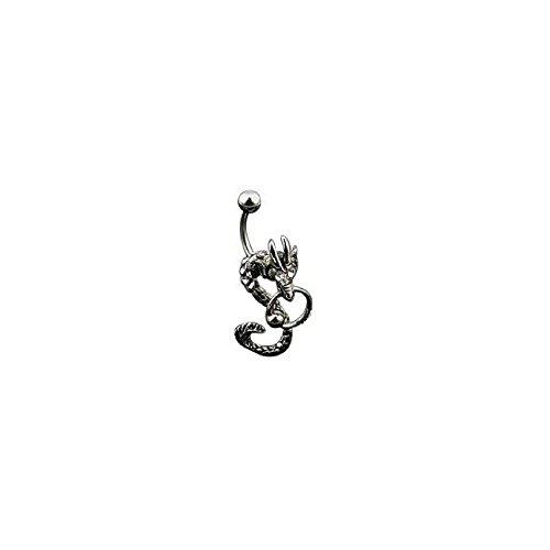 Trend Agent Bauchnabelpiercing Drachen mit Ring klar