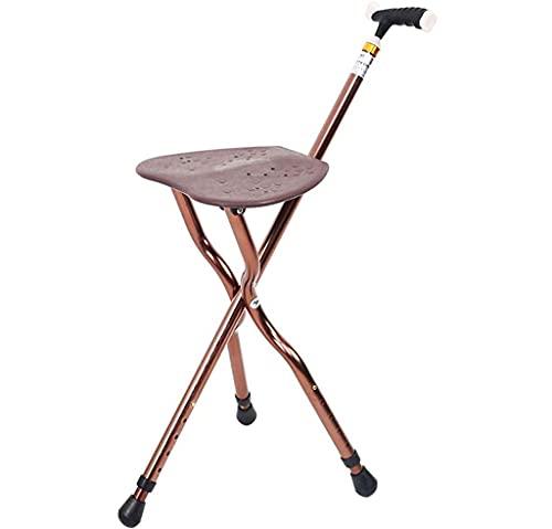 BJH Taburete de caña Silla de bastón Plegable Asientos para Caminar Plegables para Personas Mayores Taburete de Descanso para Viajes al Aire Libre para jardín Camping Senderismo Evento