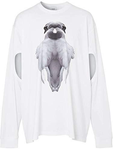 BURBERRY Luxury Fashion Herren 4563792 Weiss Baumwolle T-Shirt   Frühling Sommer 20