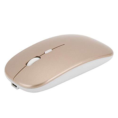 Draadloze muis, M90 Bluetooth + 2.4G Dual Mode draadloze ergonomische optische muis voor Windows 98/Me/2000/XP/Vista/Win 7/Win8(Goud)