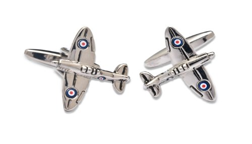 Sologemelos - Boutons De Manchette Spitfire - Argenté - Hommes - Taille Unique