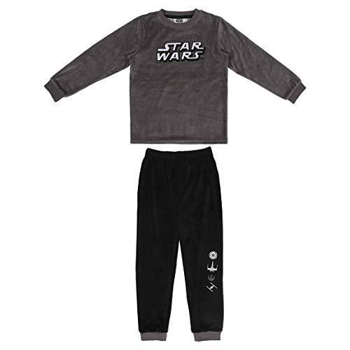 CERDÁ LIFE'S LITTLE MOMENTS Pijama Terciopelo Niño de Star Wars-Licencia Oficial Disney, Negro, 8 años para Niños