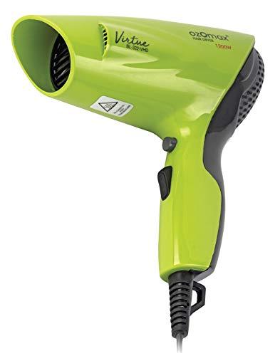 OZOMAX BL-322-VHD Virtue 1200 Watt Hair Dryer with Cool SHOT (Green)