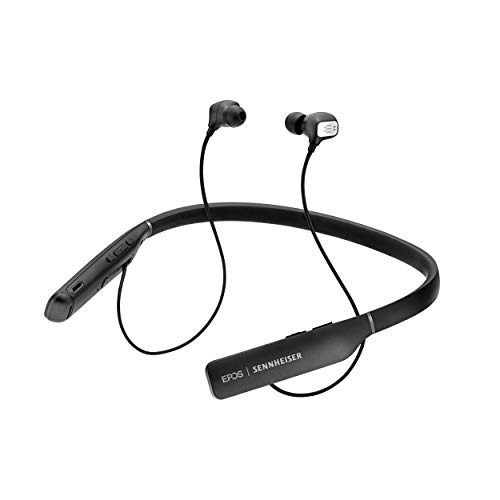 EPOS | SENNHEISER Adapt 460T (1000205) - Dual-Sided, Dual-Connectivity, Wireless, Bluetooth, ANC in-Ear Neckband Headset | for Mobile Phone & Softphone | Teams Certified (Black)