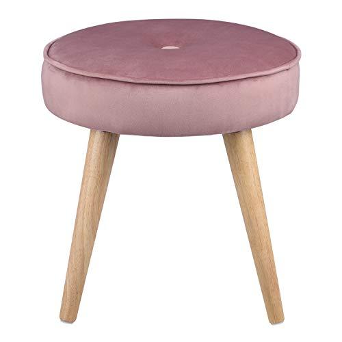Ribelli Hocker mit 4 Beinen - ca. Ø 40 cm - Extra Dicke Sitzstärke: ca. 8,5 cm - bis zu 120 kg belastbar - Sitzhocker (pink)