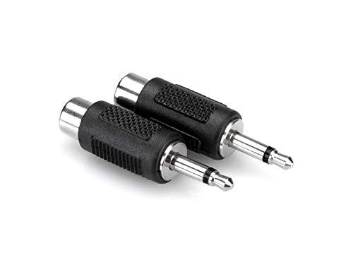Hosa GRM-114 RCA to 3.5 mm TS Adaptors, 2 Pack