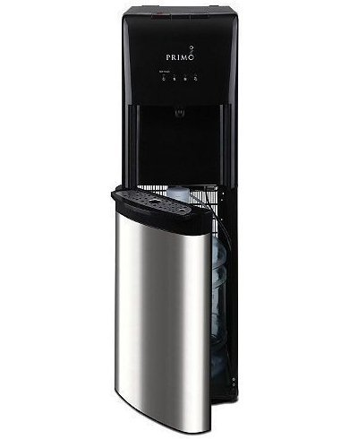 Bottom Load Self Cleaning Water Dispenser, Stainless Steel/Black