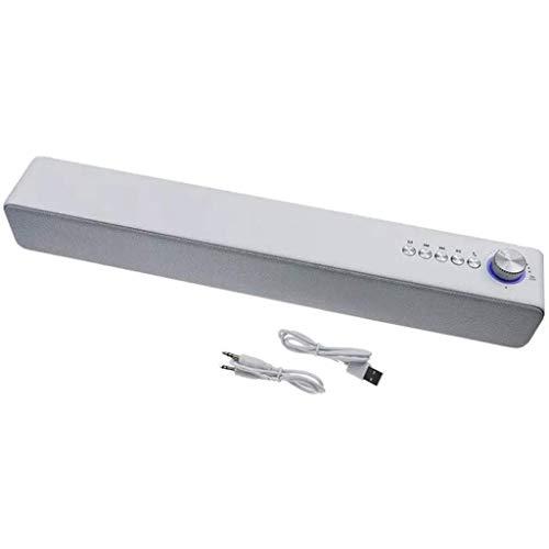 Barra de Sonido para TV, TWS Bluetooth 5.0 Speaker TV Mini Barra de Sonido, Fuente de alimentación USB Compatible con Entrada de Tarjeta U Disk/TF/SD, Adecuada para teléfonos móviles/computadora