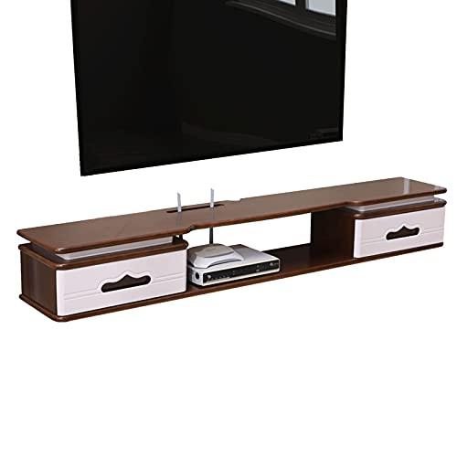 Bxzzj Mesa Flotante para TV, Consola Multimedia montada en la Pared, Soportes de televisión, Unidad de Pared con Estante Colgante para gabinete de Pared Colgante de Tablero bajo.