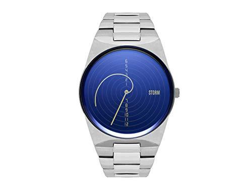 STORM London Fibon-X Lazer Blue, Herrenuhr, Edelstahlgehäuse, 45mm Durchmesser, Mineralglas, 5 bar Wasserdicht, 47444/LB