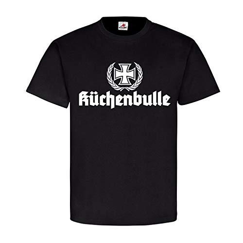 Küchenbulle Bundeswehr Army Grillen Koch BBQ Küche Chef EK Fun T-Shirt #19345, Größe:4XL, Farbe:Schwarz