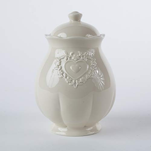 DiKasa Barattolo Cucina Stile Shabby in Ceramica Ecru' DIAM.14H20