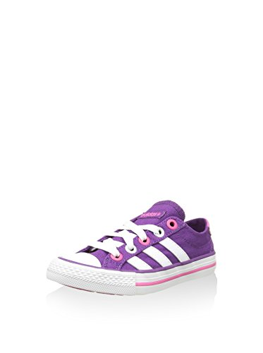 adidas Neo Label Canvas VL 3 Stripes Sneaker Lifestyle Schuhe Lila Pink Weiss, Farbe:Lila, Schuhgröße:EUR 35
