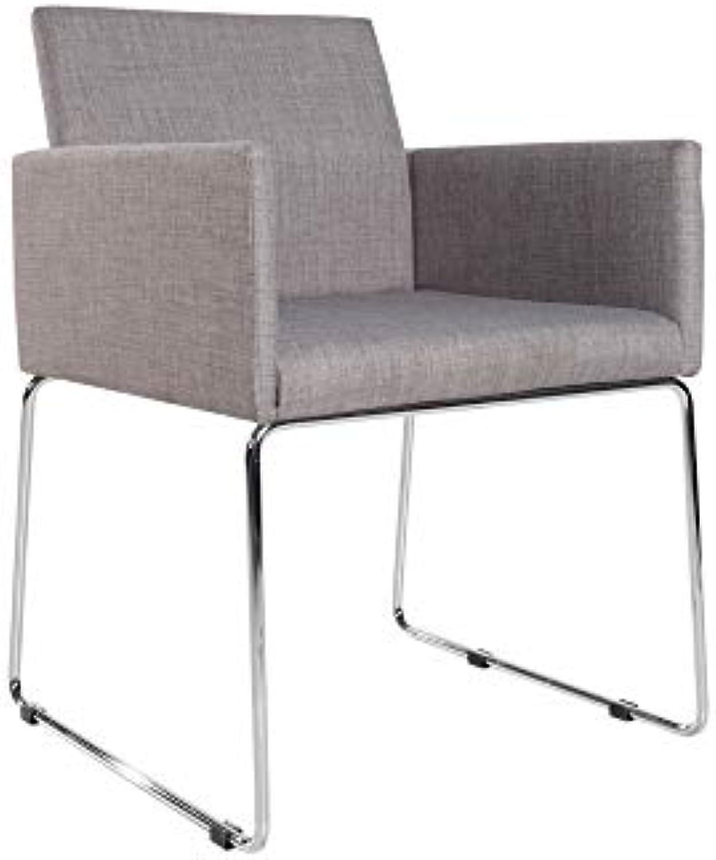 DuNord Design Stuhl Esszimmerstuhl Marco Strukturstoff grau Design Küchenstuhl