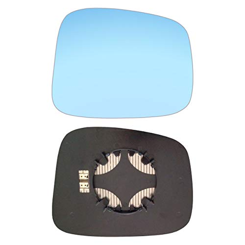 Espejo retrovisor derecho azul con placa y calefacción #AM-OLFA98-RCBH
