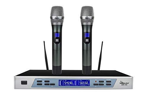 IDOLpro UHF-310 Professional Intelligent Dual Wireless Auto Noise Cancellation Microphone System NEW 2019