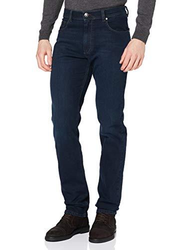 Bugatti Herren Hose Loose Fit Jeans, Schwarz (Dark Navy 293), W44/L30