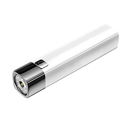 Mecia Linterna Multifuncional ultrabrillante Mini USB portátil Recargable para iluminación Exterior de Larga Distancia