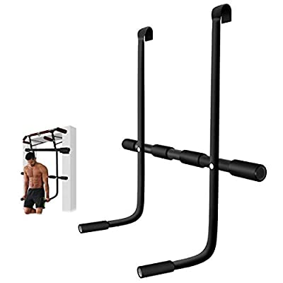 AHNNER Doorway Dip Bar Station, Pull Up Bar Attachment Accessory - Home Gym Exercise Equipment