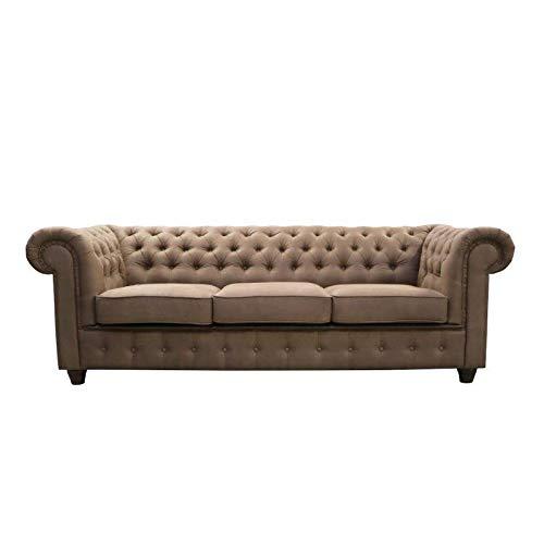 JVmoebel Chesterfield Design Luxus - Sofá acolchado (tamaño XXL, 3 plazas)