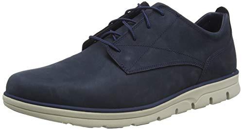 Timberland Bradstreet Plain Toe Sensorflex, Zapatos de Cordones Oxford Hombre, Azul Navy Full Grain, 43 EU