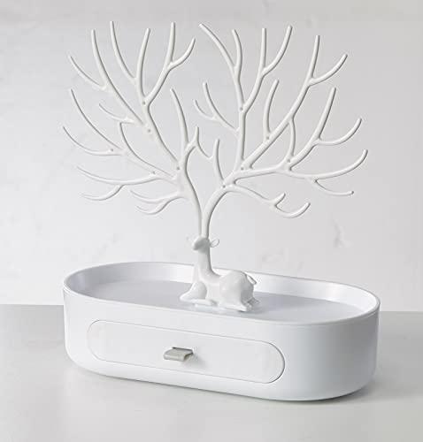 Triple-Space Deer-Antler Tree Necklace Stand ——White Deer Antler Tree...