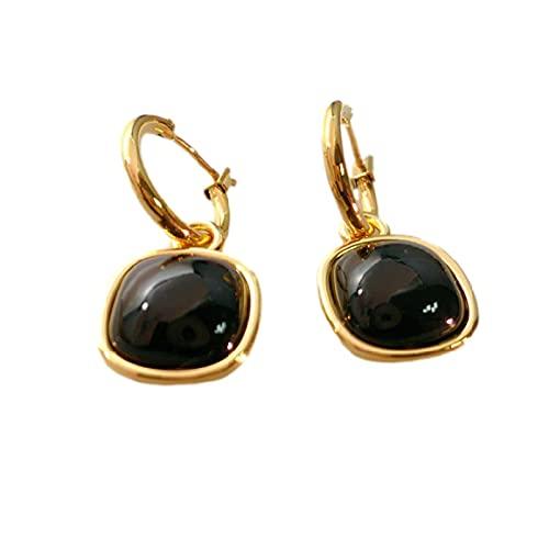 JUYIXIAN Pendientes Mujer Plata Baratos Pendientes Mujer Plata NiñA De Aro Largos Vintage Estrella Earrings Negro