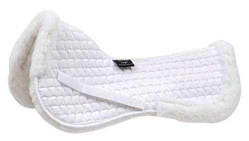 Shires High Wither Fleece Half Pad White
