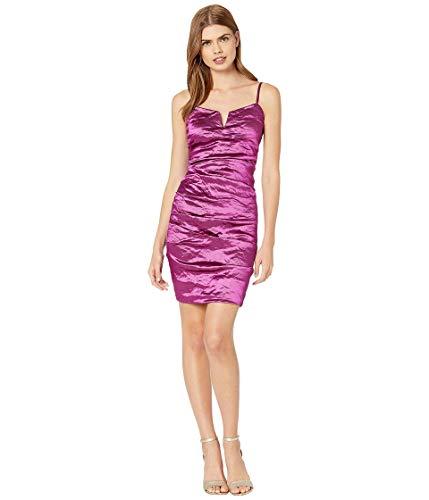 Nicole Miller Techno Mini-Kleid aus Metall mit V-Stange -  Pink -  38