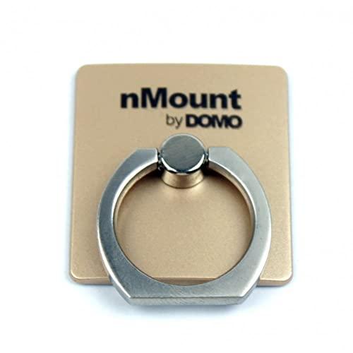 DOMO nMount R1 Universal 360° Rotate Metal Finger Ring Smartphones Mobile Phone Holder – Gold (Gold)