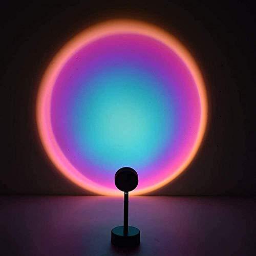 Puesta de sol Lámpara Proyector Luces LED, Rotación Rainbow Luz nocturna para niños y adultos, Lámpara de proyector de estrellas para sala de estar Party Cinema Theme Dormitorio Decoración Regalo