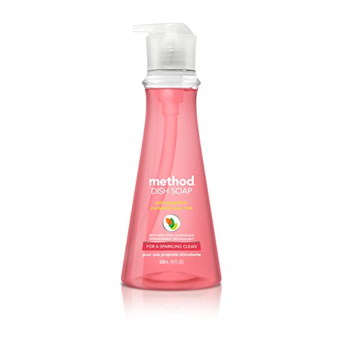 Method Dish Soap, Pink Grapefruit, 18 Fl Oz (Pack of 6), Packaging May Vary