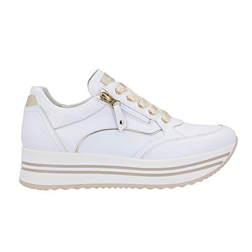 Nero Giardini Sneakers Bianco Platform Scarpe Donna 0560 DryGo E010560D 38
