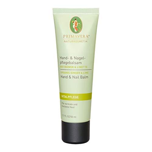 PRIMAVERA Hand- & Nagelpflegebalsam Ingwer Limette 50 ml - Naturkosmetik - schützend, kräftigend für trockene Hände