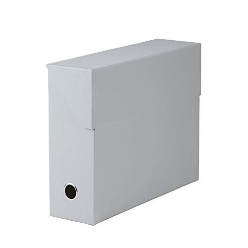 Rössler 1319452173 - S.O.H.O. Archivbox, mit Klappe und Griffloch, stone