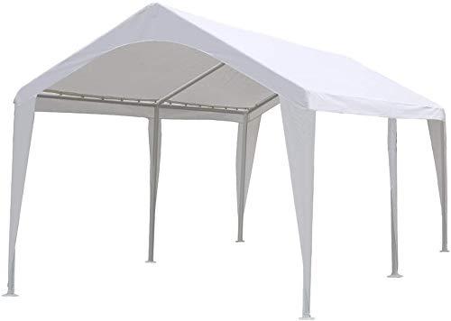 Abba Patio 10 x 20 ft Carport Canopy Fabric Pole Skirts Design Heavy...