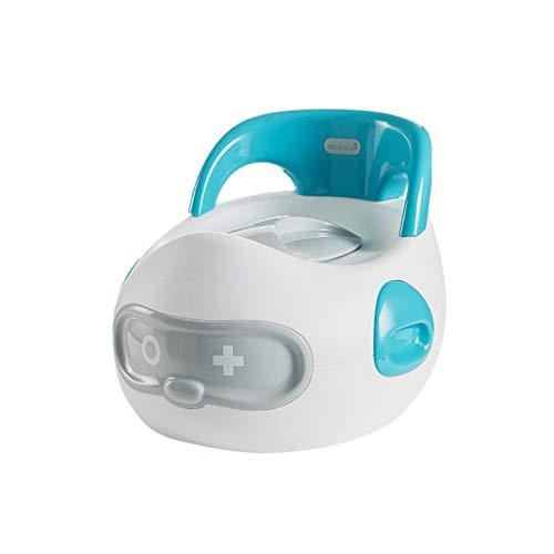 LILI-SHYP Siège De Formation pour Enfants Fun Child Toddler Toilettes pour Enfants Voyage Potty Trainer Seat avec Splash Guard Pièces Amovibles Et Portable (Color : Blue)