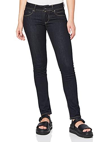 Pepe Jeans New Brooke Jeans, Blu (Denim 100Z Rinse Plus M15), 26W / 30L Donna