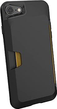 Smartish iPhone 7/8/SE  2020  Wallet Case - Wallet Slayer Vol 1 [Slim + Protective + Grip] Credit Card Holder for Apple iPhone SE 2020 & iPhone 7/8 - [Silk] -Black Tie Affair