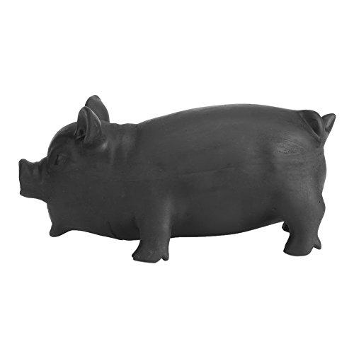1 Stücke Weiche Reizende Latex Quietschende Schwein Spielzeug Weiche Latex Haustiere Lustige Welpen Sound Kauen Biss Spielzeug mit Realistischen Schwein Grunzen Sound Kinder(L-Schwarz)