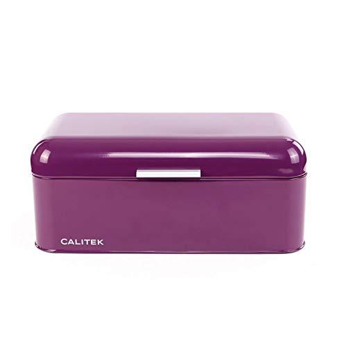 Calitek Vintage Style Bread Bin - Purple