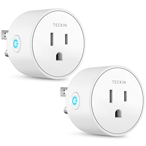 Smart Plug Works with Alexa Google Assistant for Voice Control, Teckin Mini Smart Outlet Home Automation Modules, No Hub Required, FCC ETL Certified,Only Supports 2.4GHz Network