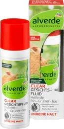alverde NATURKOSMETIK Tagespflege Clear Gesichtsfluid Heilerde Bio-Grüner-Tee, 1 x 30 ml