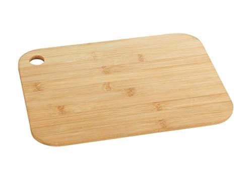 WENKO Planche à découper en bambou S - Planche de cuisine, planche à découper avec trou de préhension, ménage la lame, Bambou, 23 x 0.8 x 15 cm, Marron