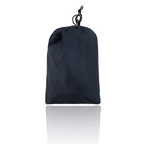 (polyester) tuinmeubel afdekking hoekbank tafel stof zonwering waterdicht zwart zilver 286 * 222 cm