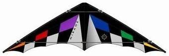 Elliot - Mirage XL, Ready to fly, Lenkdrachen schwarz,grau,rainbow